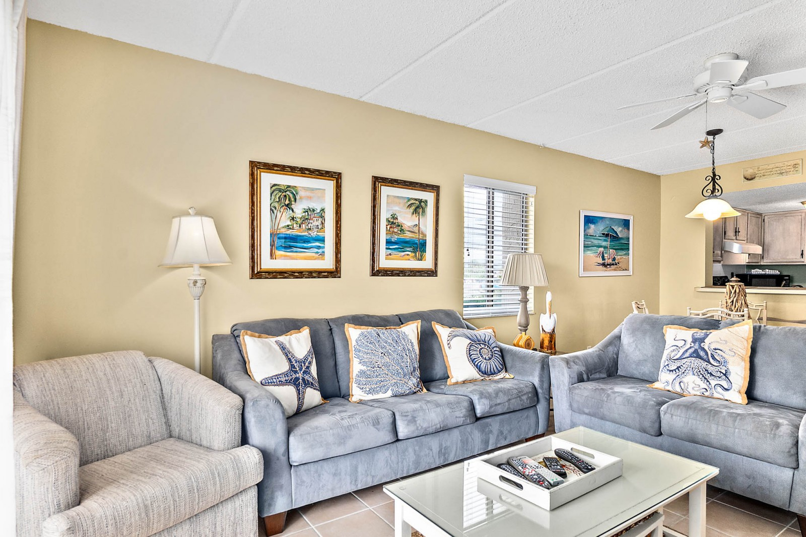 Comfy, Bright, Beachy Living Area