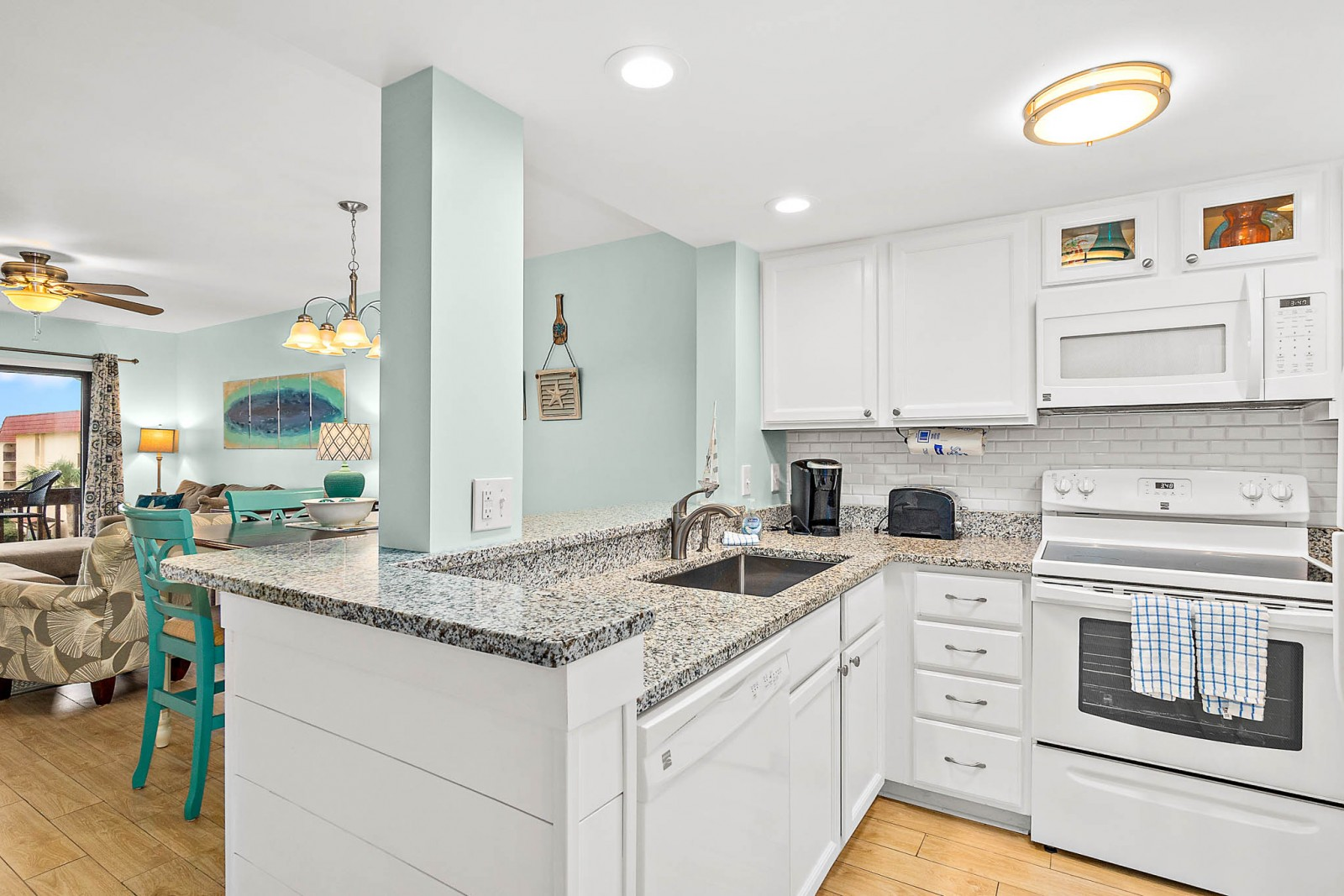 Coastal Kitchen Open Plan
