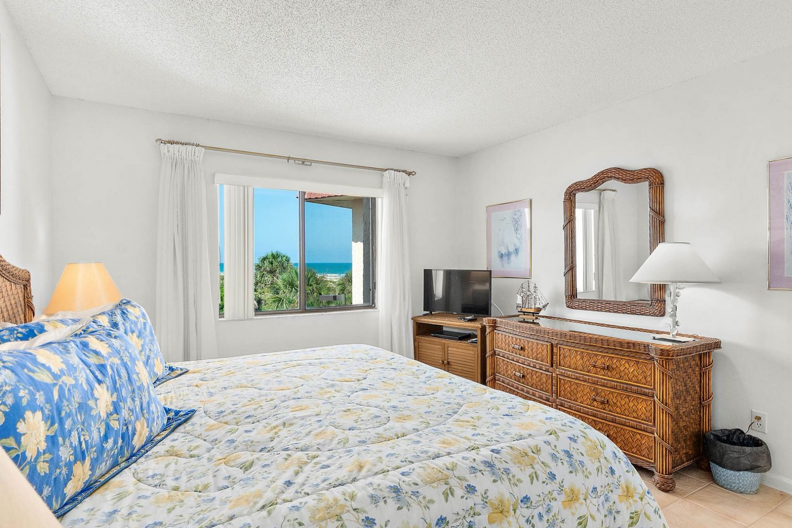 master bedroom view of ocean
